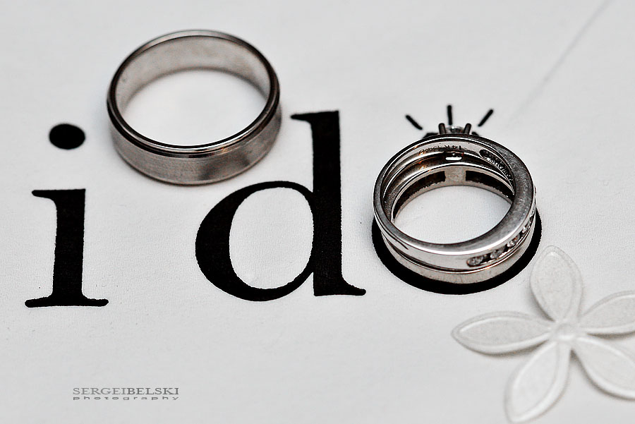 calgary wedding photographers -  wedding rings photo