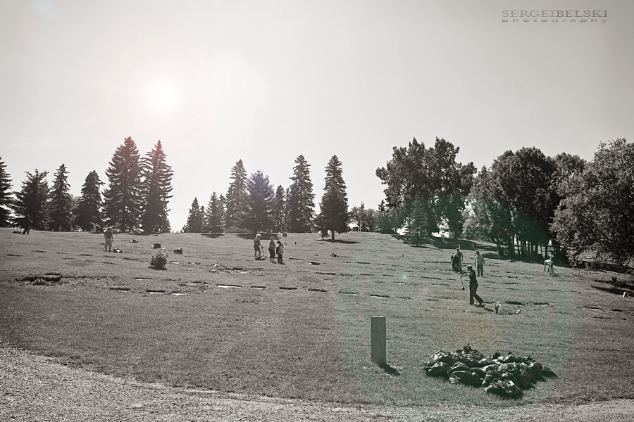 sergei belski volunteer work cemetery photo