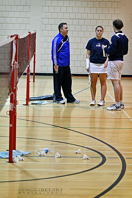 mount royal university badminton sergei belski photo