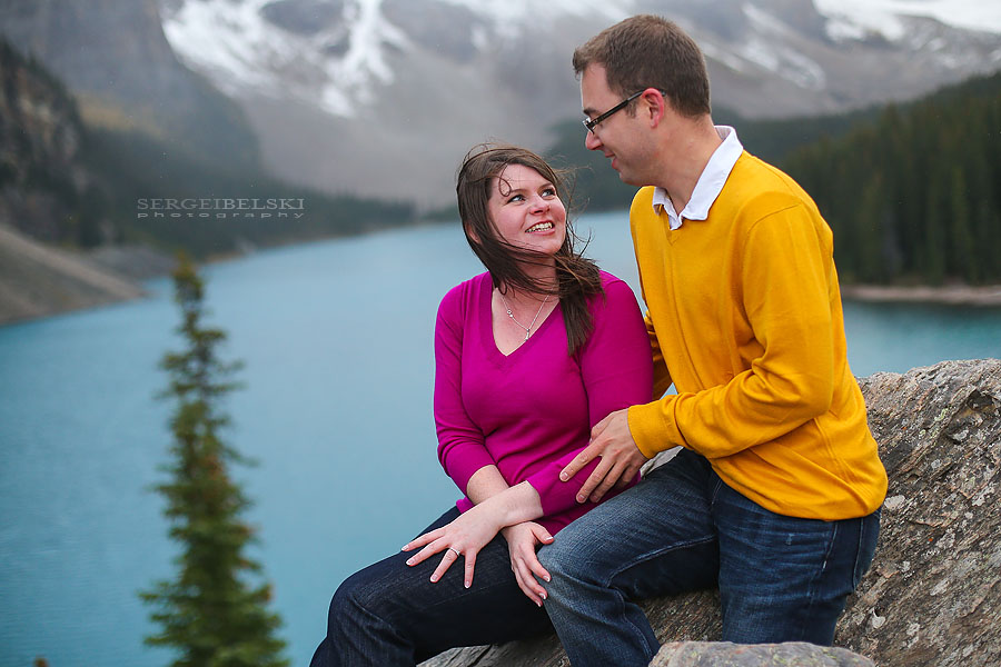 moraine lake engagement photographer sergei belski photo