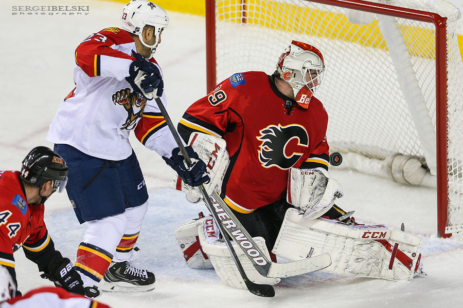 nhl hockey calgary flames vs florida panthers sergei belski photo