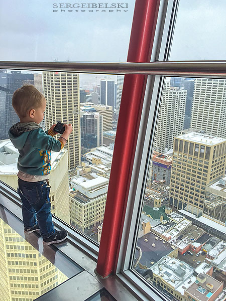 family trip calgary tower sergei belski photo