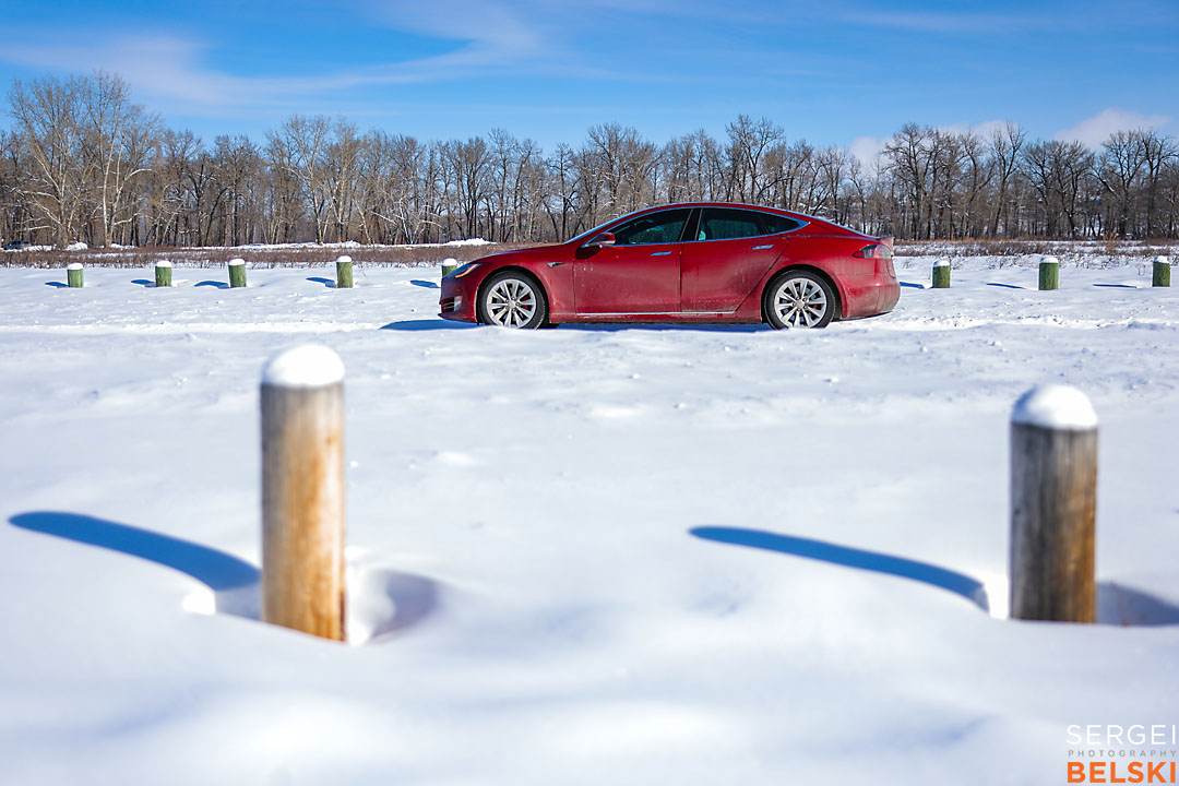 my tesla adventures calgary automotive photographer sergei belski photo